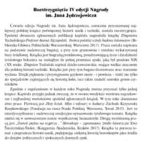Rozstrzygnięcie II edycji Nagrody im. Jana Jędrzejewicza
