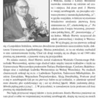 Józef Hurwic (23 V 1911 – 27 VII 2016)<br /> Tak pamiętam… Wspomnienie oprofesorze Józefie Hurwicu